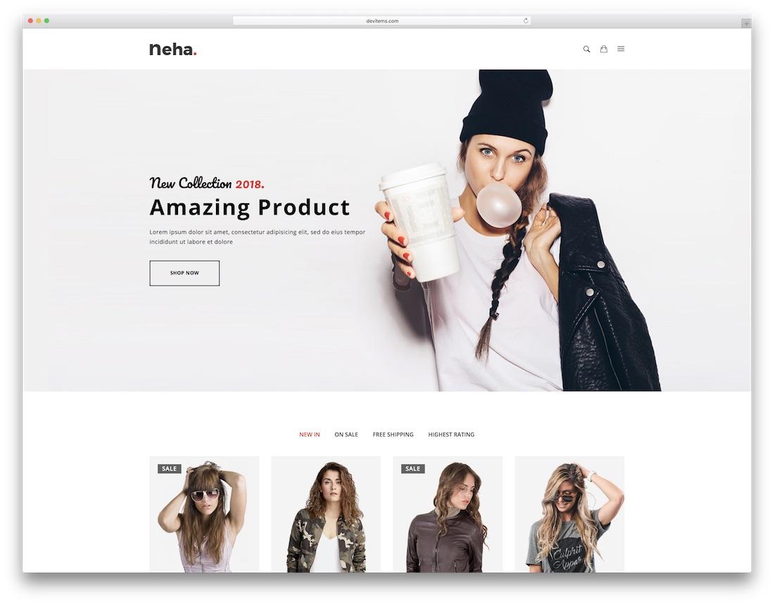 neha fashion website template