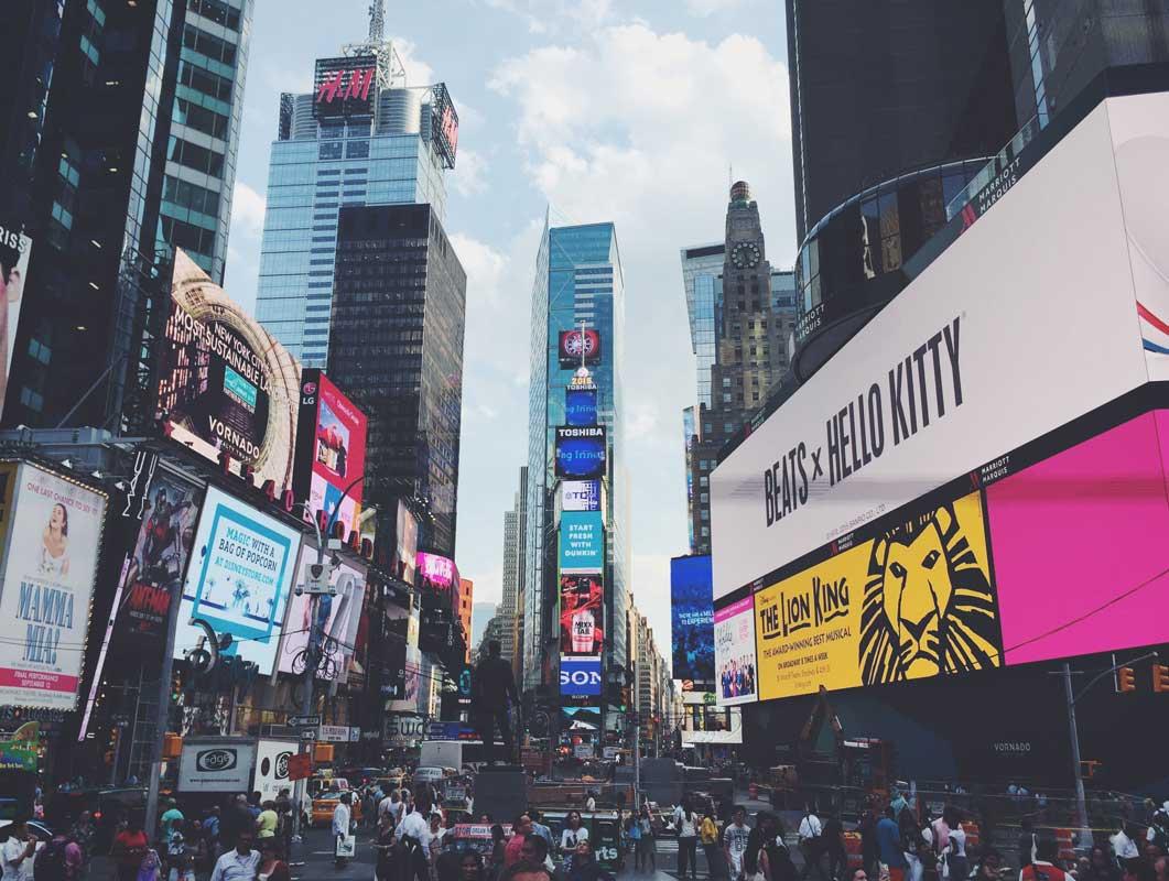 New York Times Square Billboard publicidad maqueta psd
