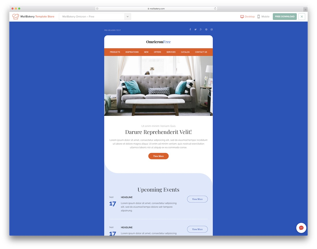 Free and premium plans cu. 39 Free Responsive Html Email Templates 2021 Colorlib