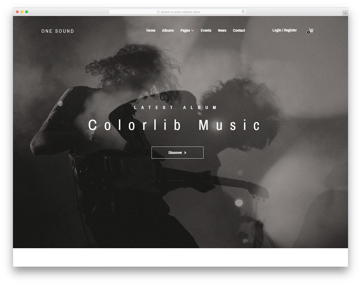 plantilla gratuita de una sola música