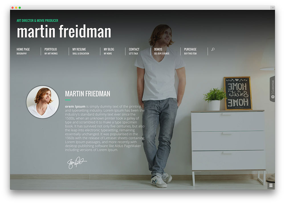 30 Best VCard WordPress Themes 2016 For Your Online Resume