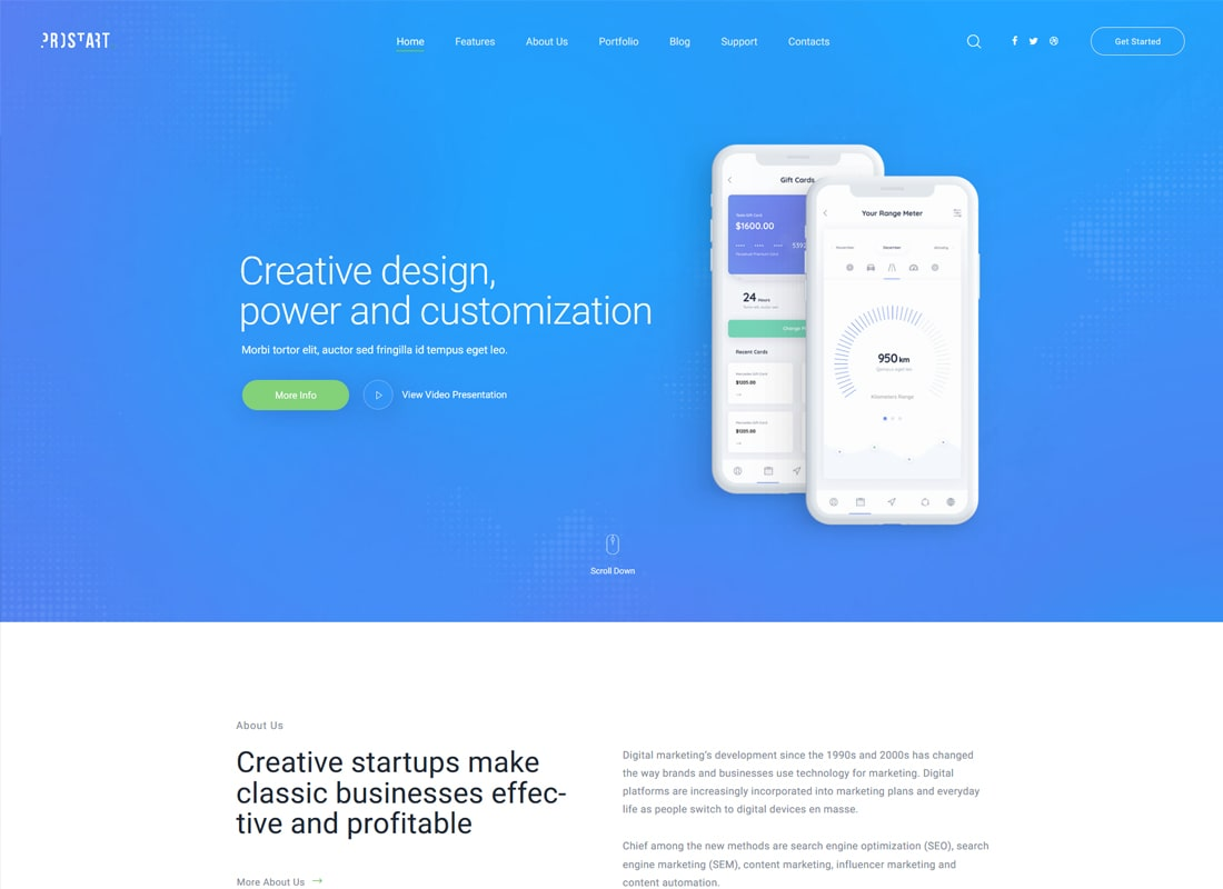 ProStart | Inicio y tema corporativo de WordPress