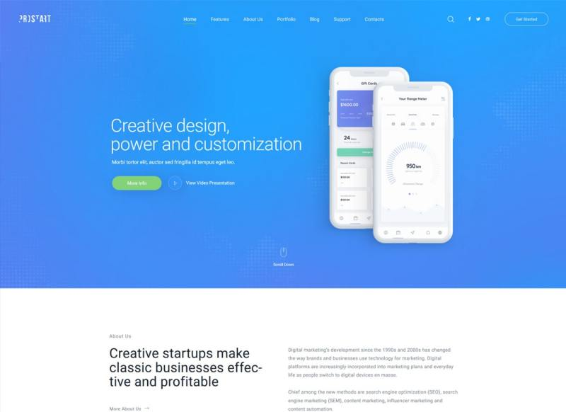 ProStart   Inicio y tema corporativo de WordPress