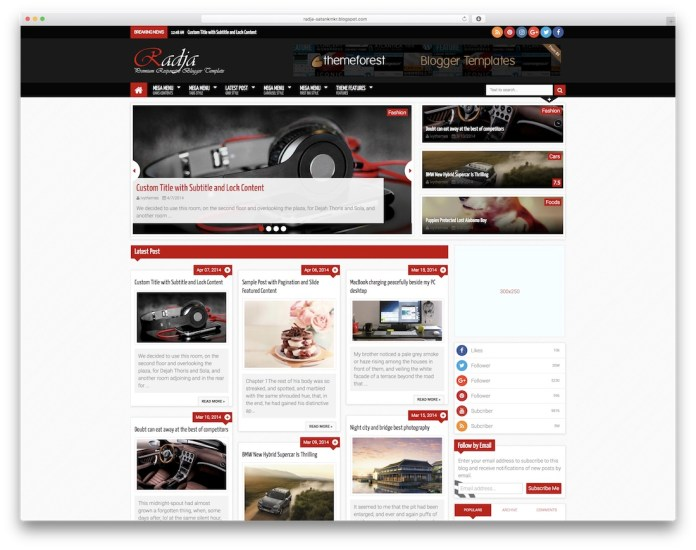 best free responsive blogger theme