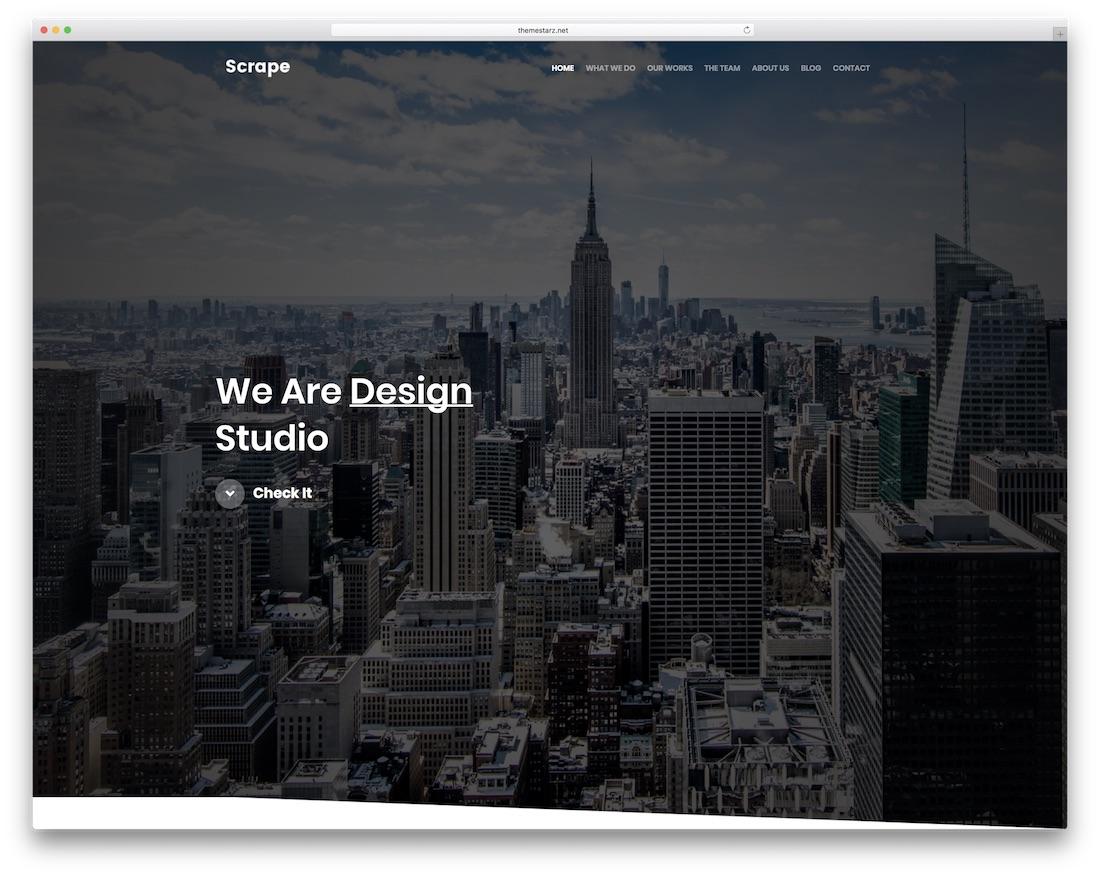raspe la plantilla del sitio web de la galería