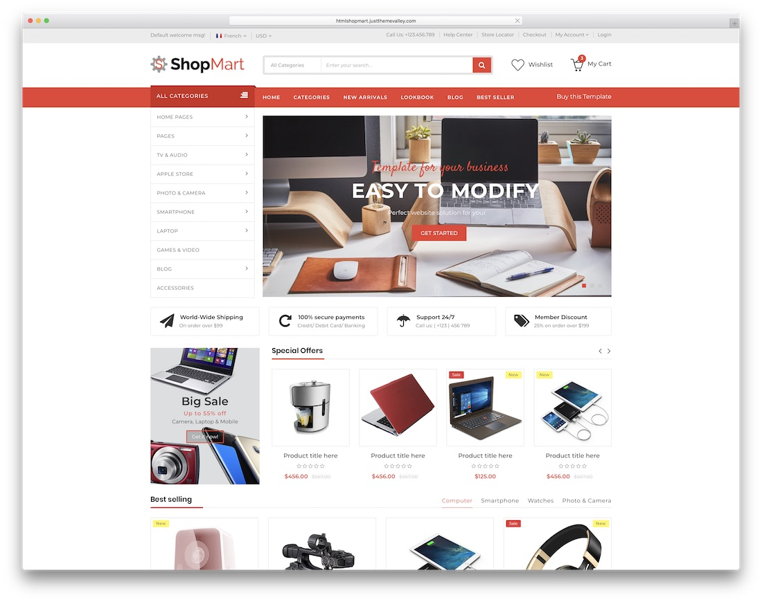25 Ecommerce Website Templates For Online Stores 2020 Colorlib