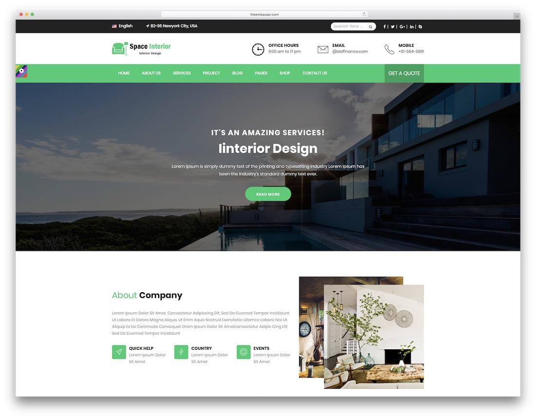 23 Best Responsive Interior Design Website Templates