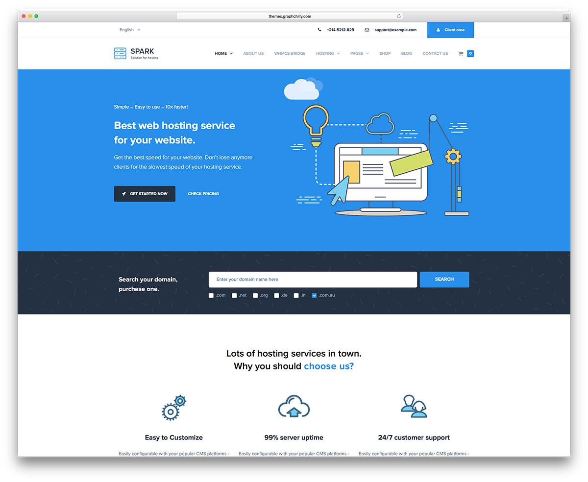 Web Hosting Template Wordpress Tutore