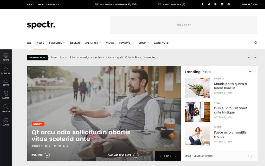 Creating an information only site for a small business can be one of the most effective tools for gaining loyal customers. 19 Best Responsive News Website Templates 2020 Colorlib
