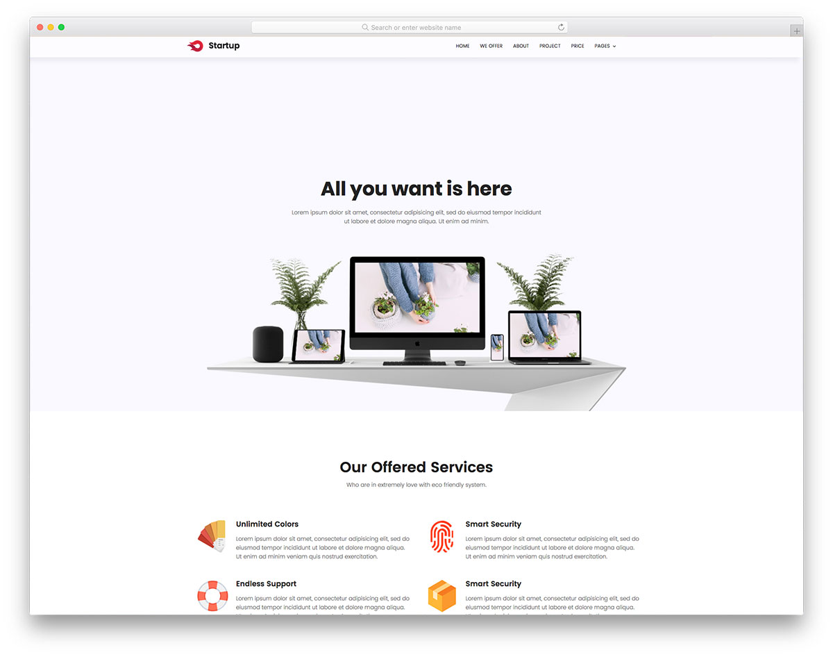 84 free html website