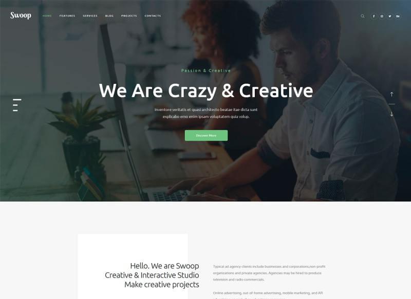 Swoop | Tema de WordPress para Web Studio y Creative Agency
