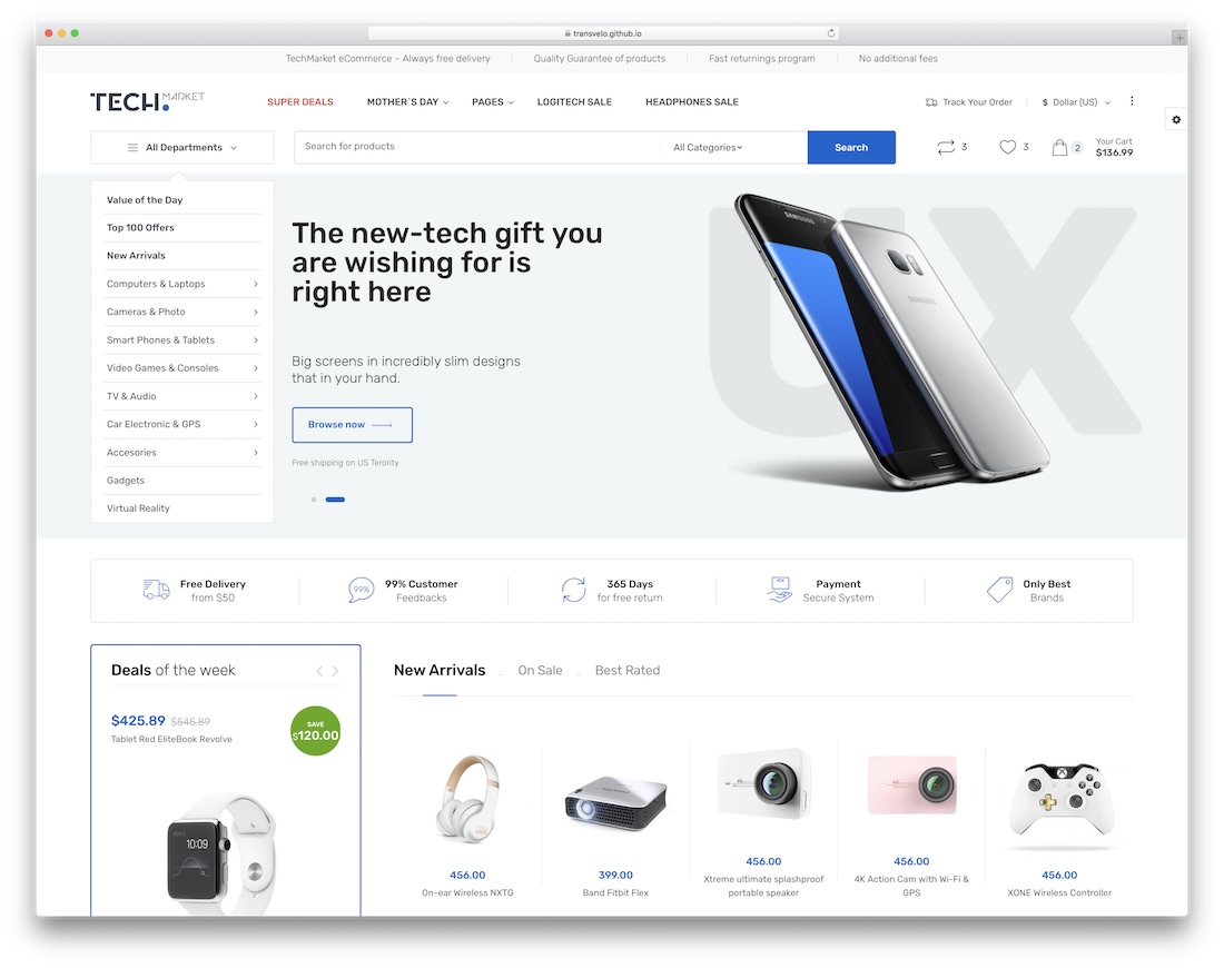 32 eCommerce Website Templates For Top Online Stores 2019