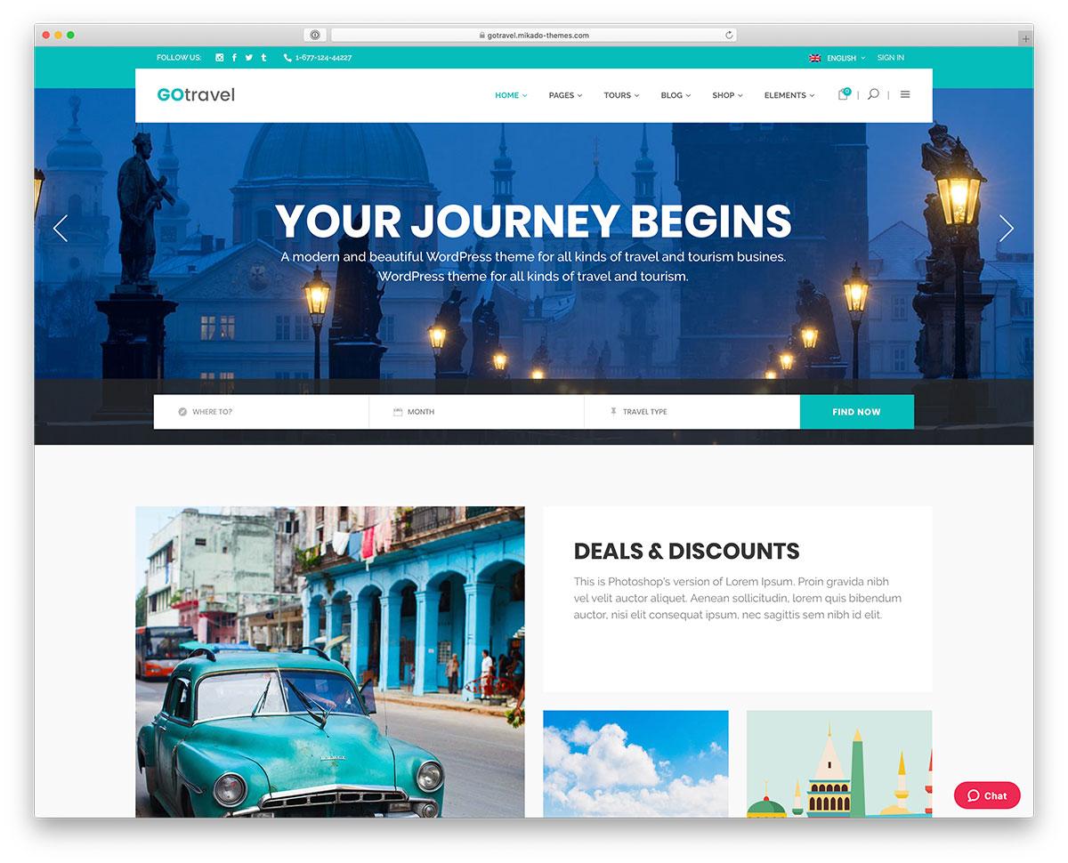 25 Customizable Travel Agency Wordpress Themes 2020 Colorlib