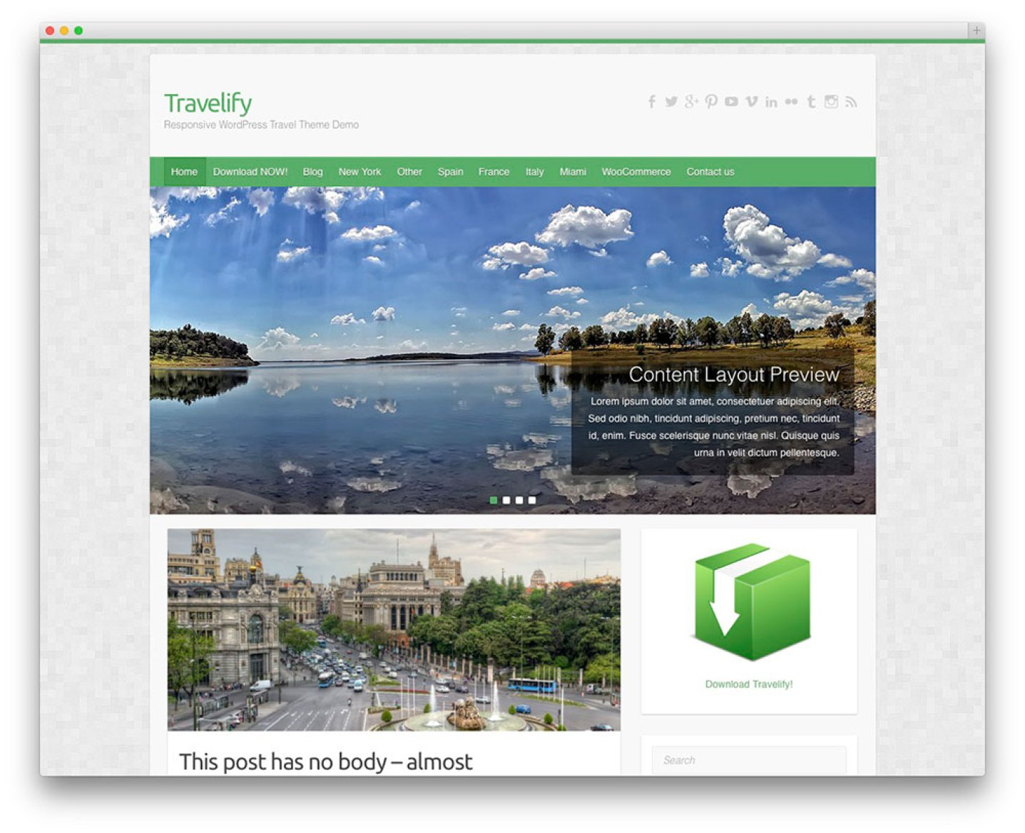 Travelify - tema do curso gratuito
