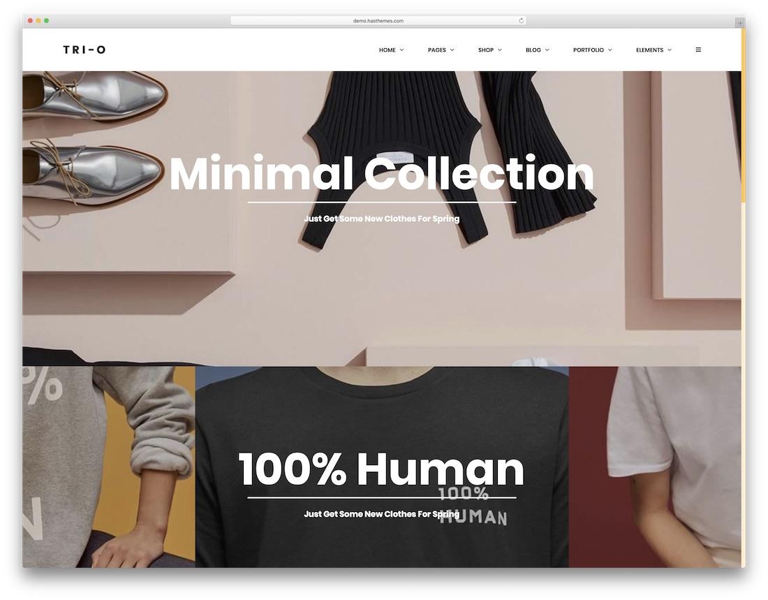 trio fashion website template