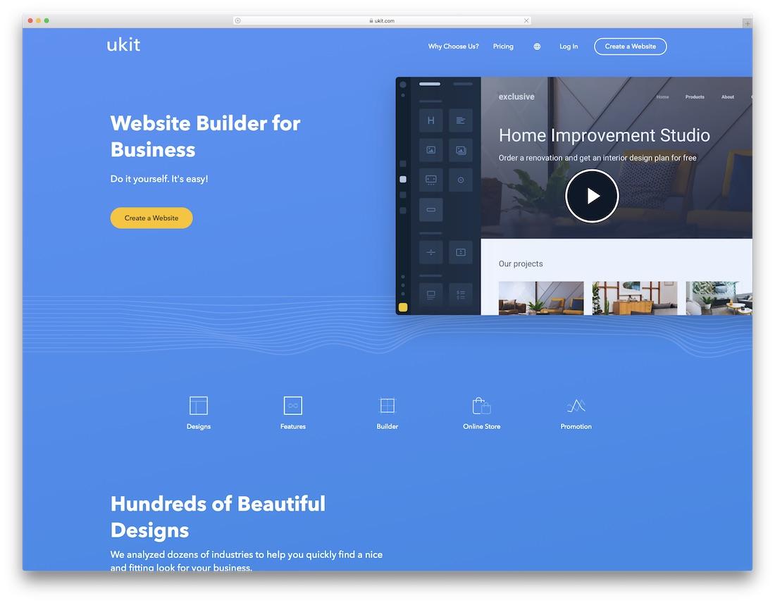 creador de sitios web de seguros ukit