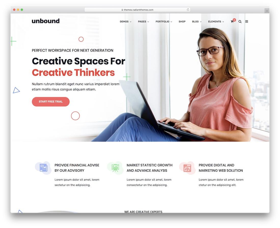 unbound wpml compatible wordpress theme