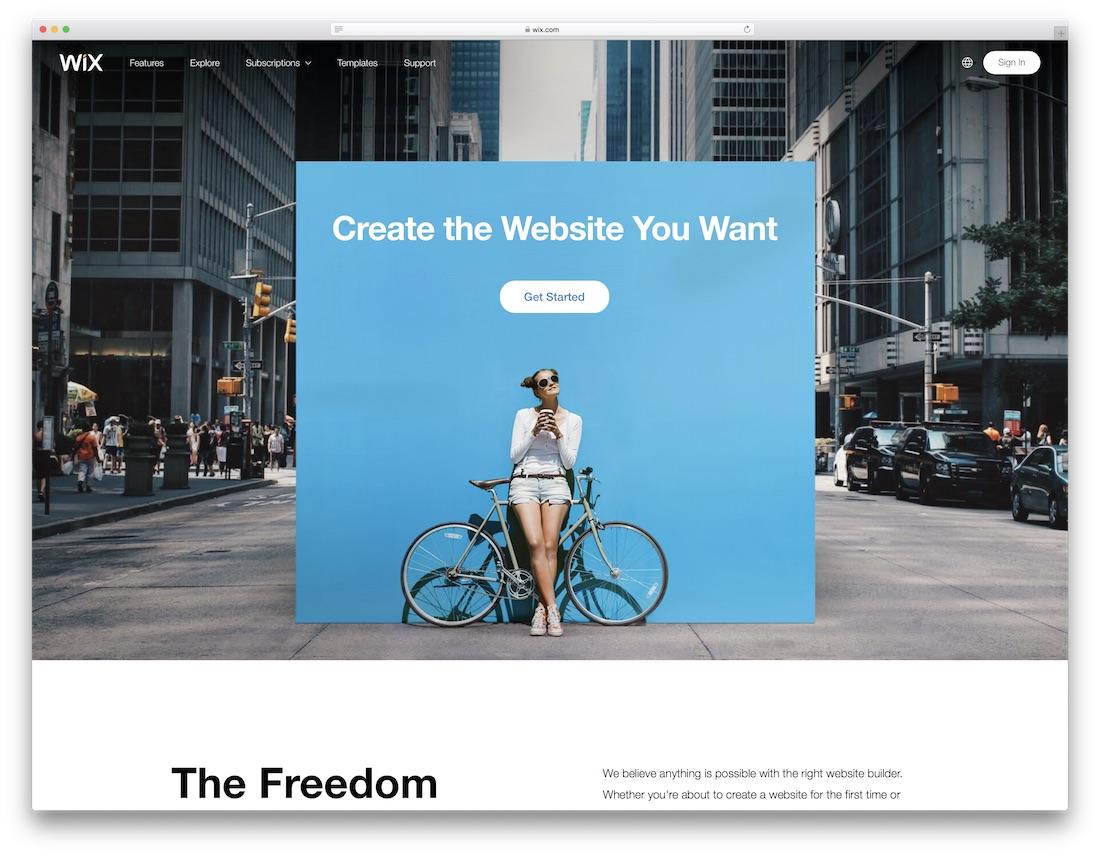 creador de sitios web de seguros wix
