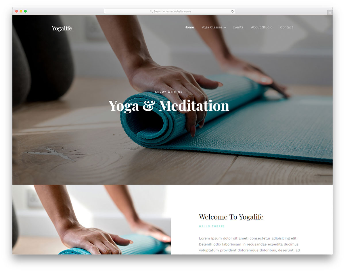 yogalife free CSS template
