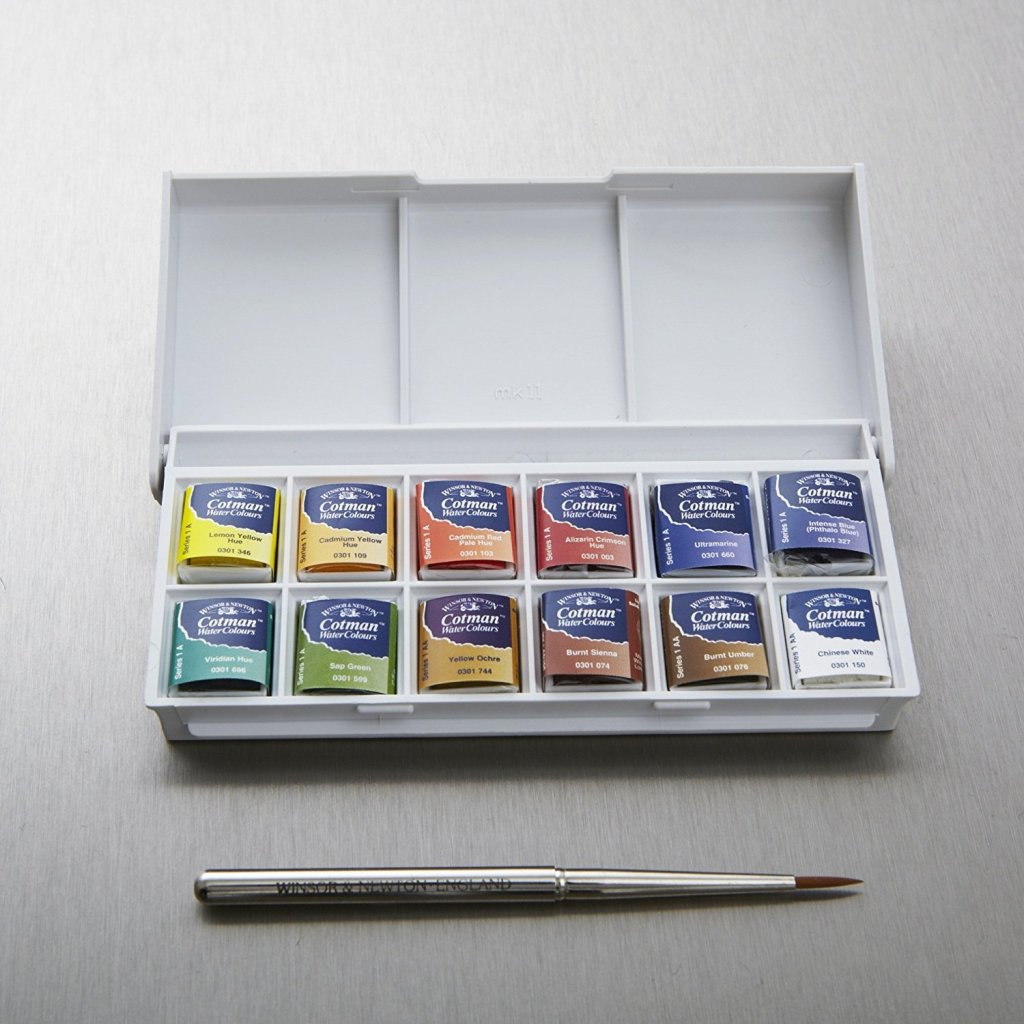 Best Watercolor Paint Set: Winsor & Newton 12 pan pocket set