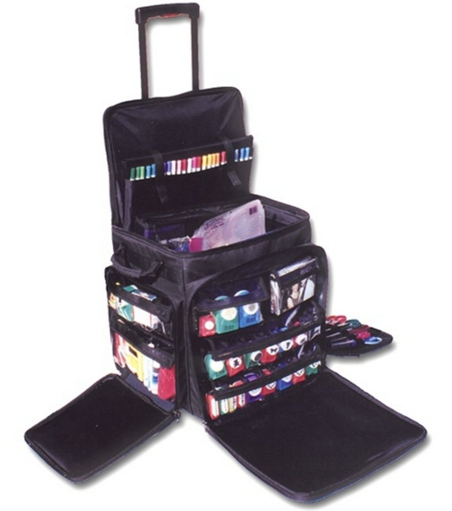 Travel art supplies, carrying case for art supplies, artist travel case