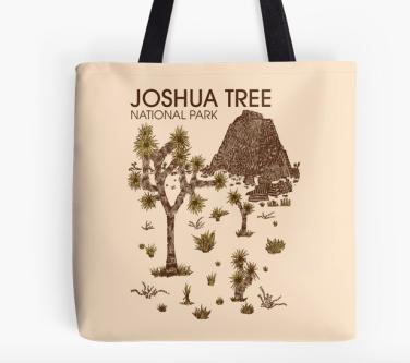 joshua tree national park tote by Hinterlund
