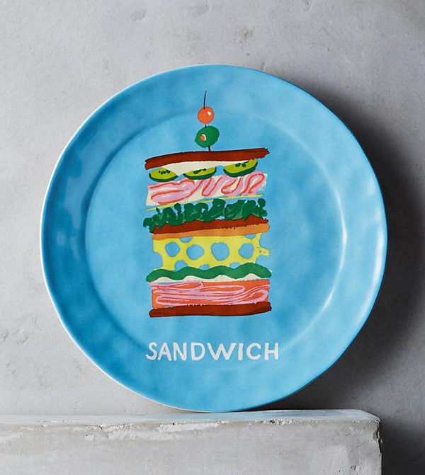 Anthropologie Artists: Danielle Kroll: quirky & colorful paintings on fabric & ceramics