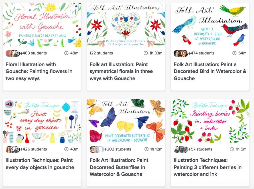 Best Online Gouache Classes: Gouache Painting Lessons for Beginners: julia bausenhardt skillshare