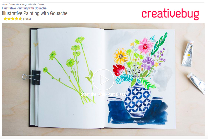 How Do You Use Gouache Paint? Try this painting with gouache course