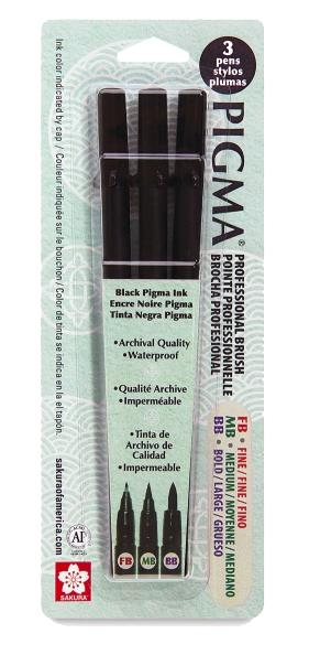 7 Best Brush Pens for Artists: Brush Pens for Calligraphy, Handlettering, Comics, Illustration: pigma brush pen
