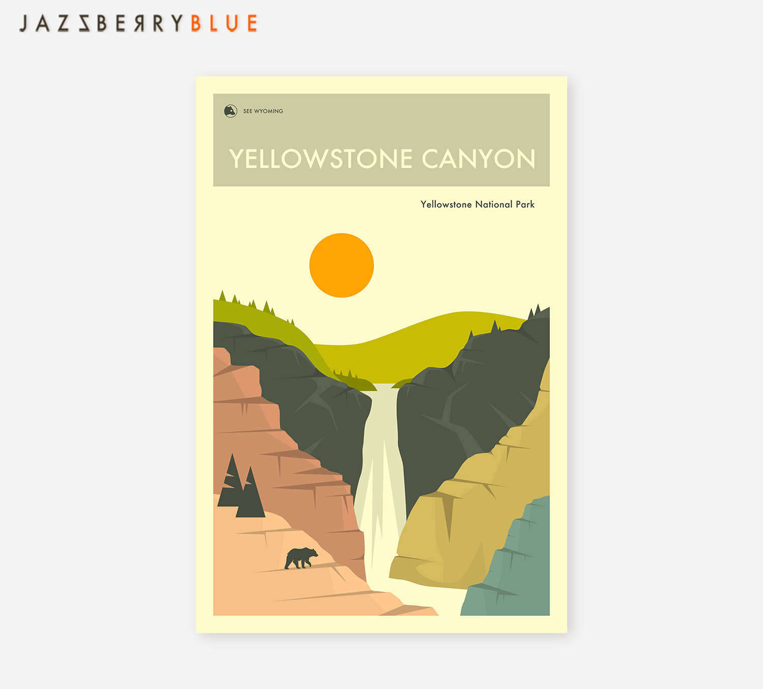 National Park Prints - Yellowstone