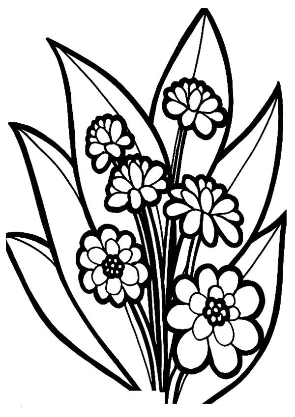 Beautiful Bouquet Of Hearts And Roses Coloring Page