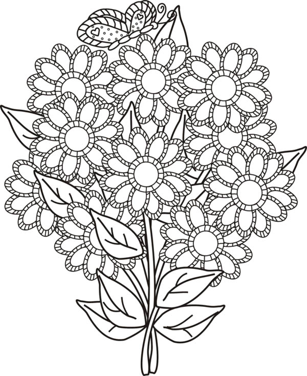 Flower Bouquet For Your Wife Coloring Page : Color Luna