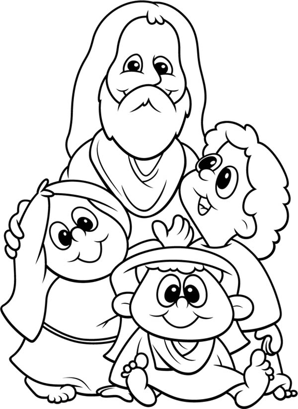 Jesus Loves The Little Children Craft Sketch Coloring Page