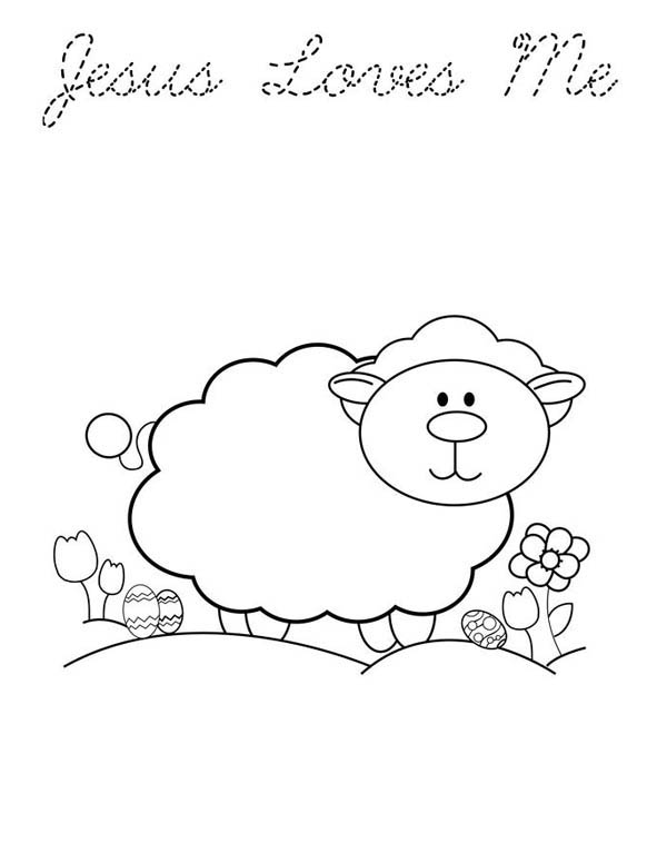 Jesus Love Me And Animals Too Coloring Page : Color Luna