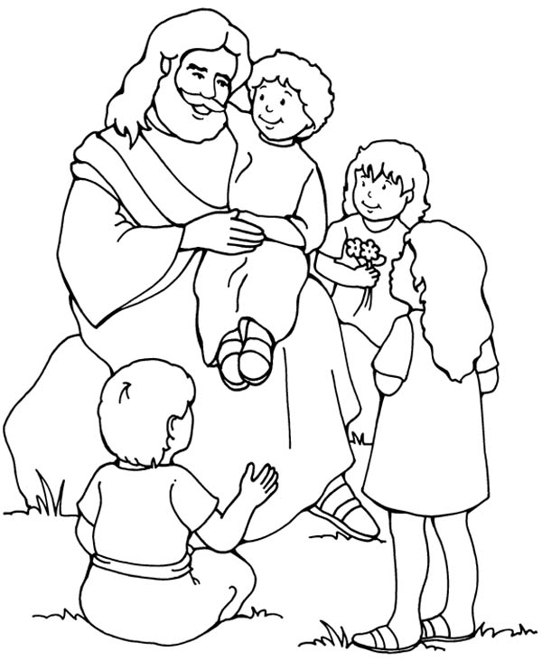 Jesus Love Me And The Other Children Too Coloring Page