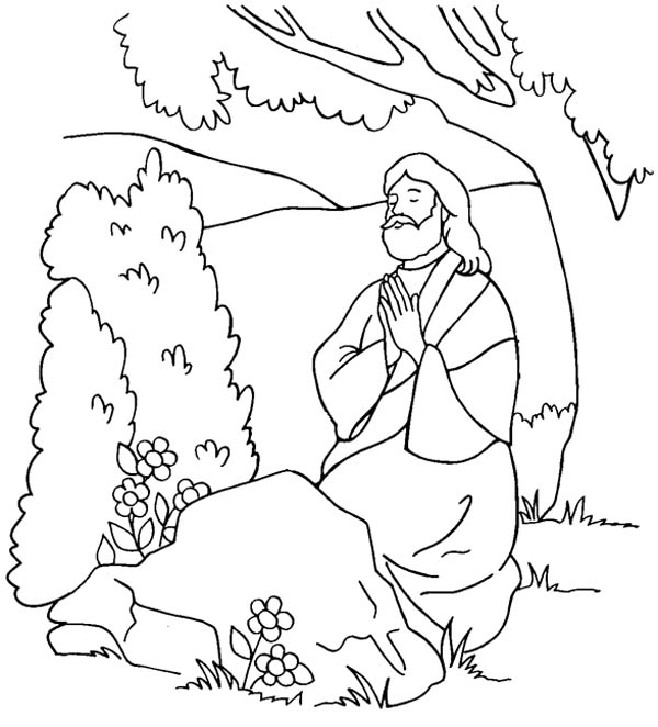 People Praying Coloring Pages Sketch Coloring Page