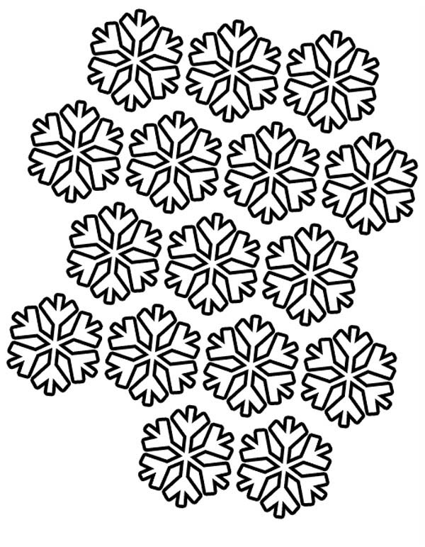 Snowflakes Pattern Coloring Page : Color Luna