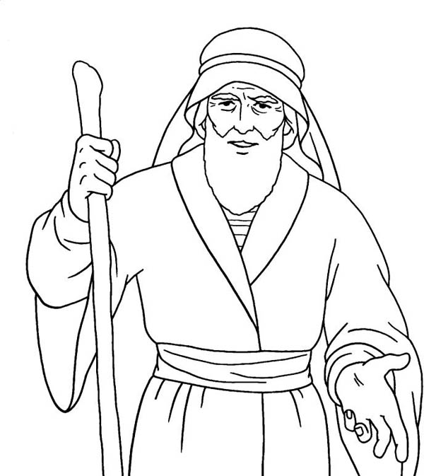Awesome Drawing Of Moses Coloring Page : Color Luna