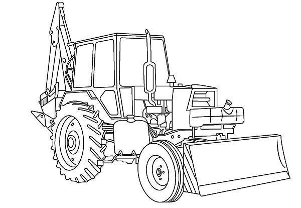 Awesome Excavator In Digger Coloring Page : Color Luna