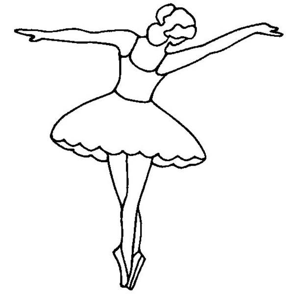 Ballerina Doing Tip Toe Coloring Page : Color Luna