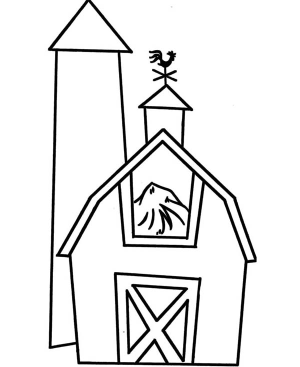 Barn Full Of Rice Straw Coloring Page : Color Luna