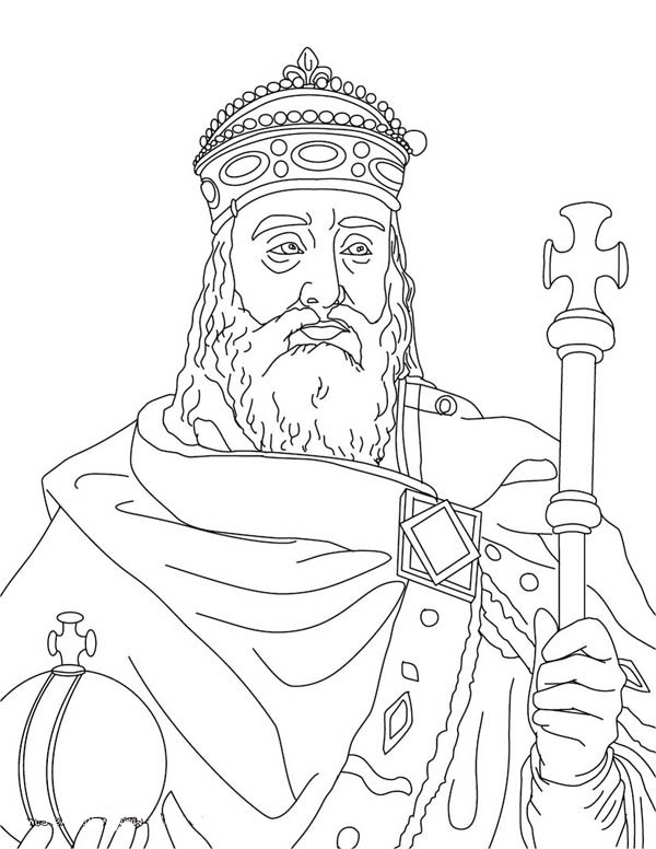 Charlemagne In Middle Ages Coloring Page : Color Luna