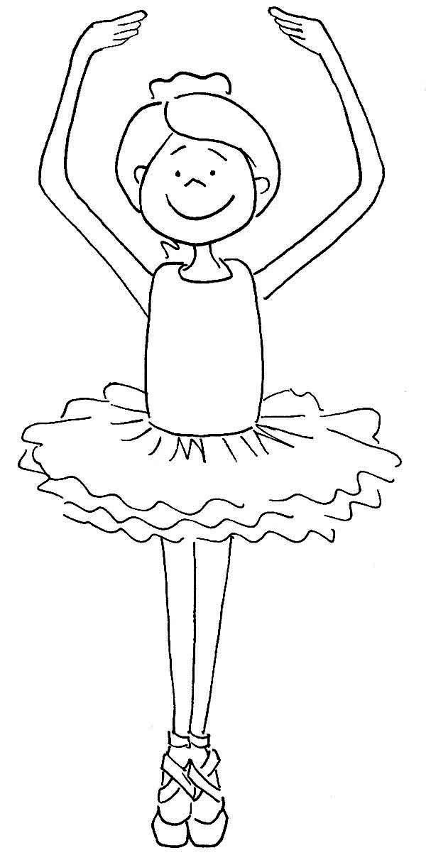 Cute Ballerina Girl Coloring Page  Color Luna