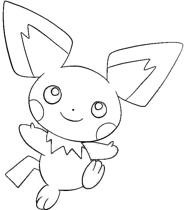 Pikachu And Raichu Coloring Pages Pichu Pokemon Auto