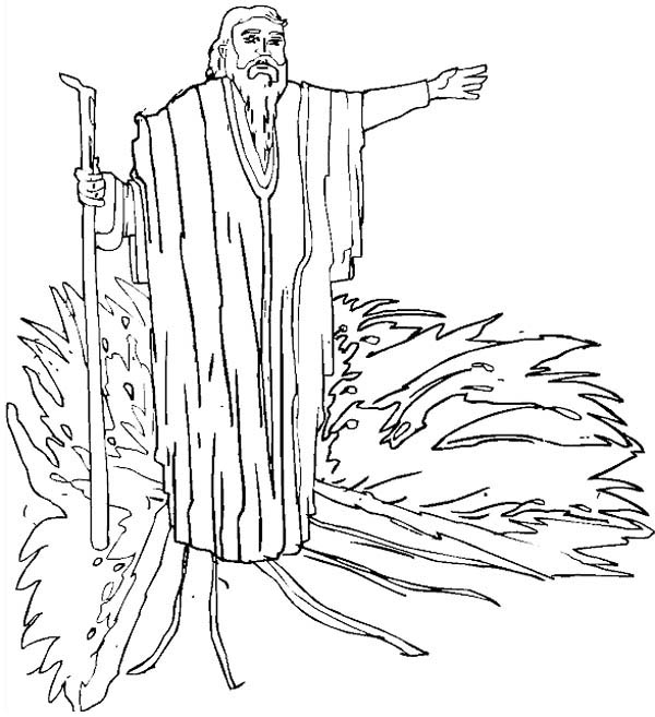 Drawing Prophet Moses Coloring Page : Color Luna