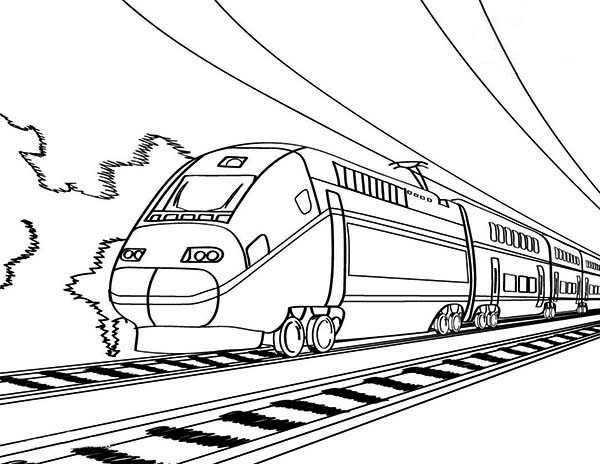 European High Speed Train Coloring Page : Color Luna