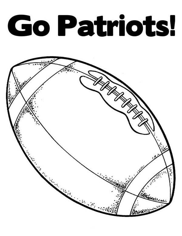 Go Patriots In NFL Coloring Page : Color Luna