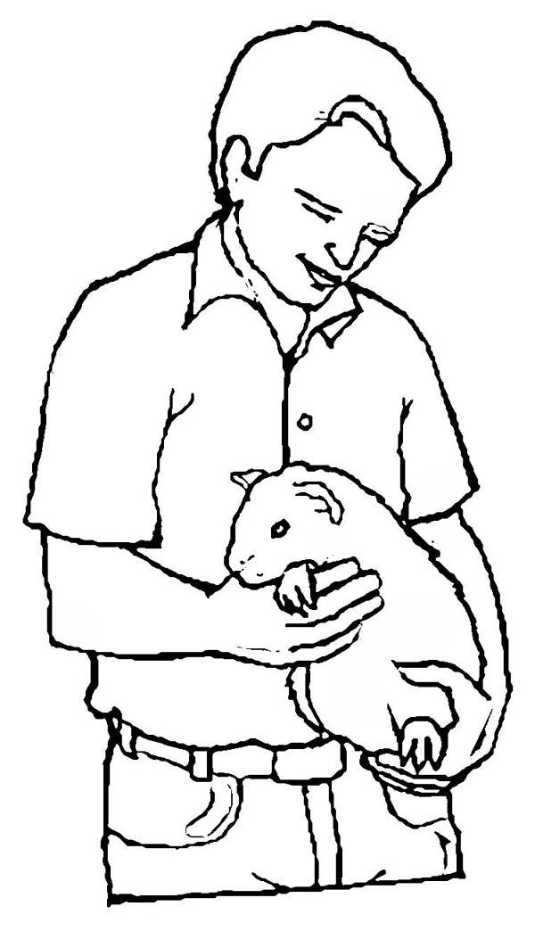 Guinea Pig As Pet Coloring Page : Color Luna