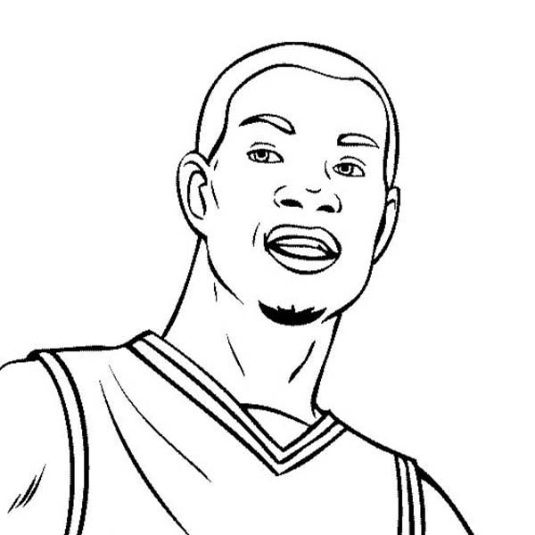 Kevin Durant Is NBA Player Coloring Page : Color Luna